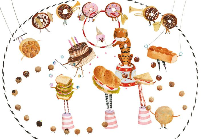 "Agnes Keszeg illustration for ""The Cake Princess""."