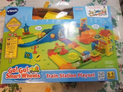 Vtech Go Go Smart Wheels Train Station Playset Play Set Kids Trains