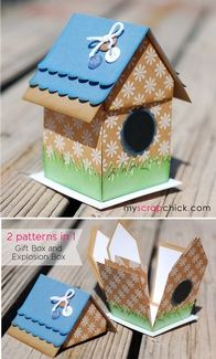 Birdhouse Explosion Box: only $3 for cut file from Scrap Chick