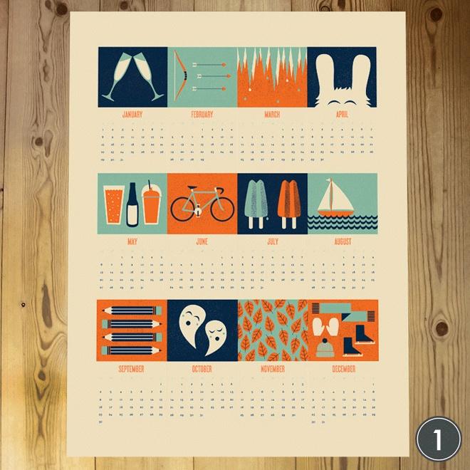 2012 Calendars. #art #print #handmade