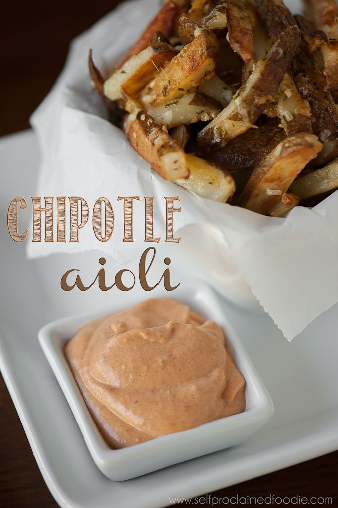 "Chipotle Aioli | Self Proclaimed Foodie - this ""from scratch"" aioli only takes seconds to whip up and can be served as a delicious and spicy spread or dip"