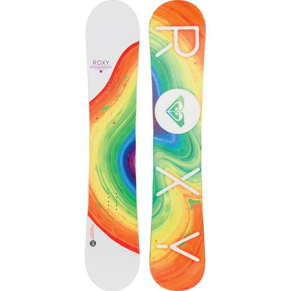 Roxy Banana Smoothie 2015 Womens Snowboard is a versatile board which you can take anywhere. It uses the XC2 BTX camber profile which is a shortened reverse camber rockered section between your feet for float in pow and a more forgving ride then into standard camber in the tips for grip stability, pop and response. #snowboard #snowboarding #roxybananasmoothe2015womenssnowboard #allmountain