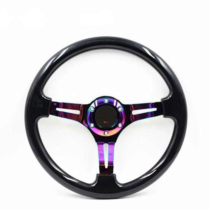 350mm Car Racing Steering Wheel 14inch Deep Dish Black