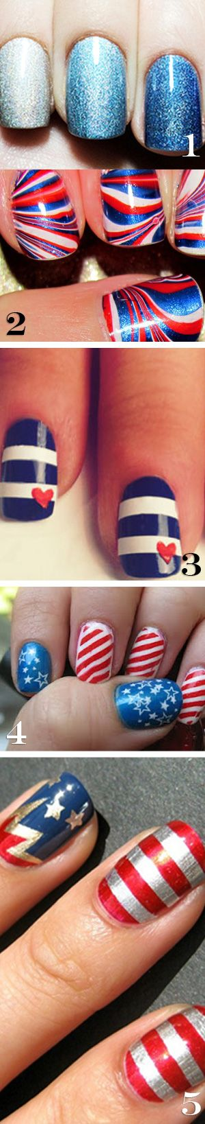 Fourth of July nails! LOVE these