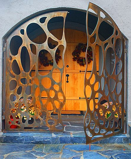 Custom Steel Entry Gate - Bob Rhea Acme Industrial Thinking