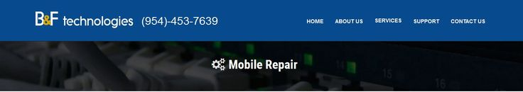 B & F Technologies Inc. is a Sunrise FL cell phone repair company offering screen replacement, tablet repair or mobile phone repair service at an affordable price. No matter what mobile device you use - iPhone, iPad, SmartPhone, Android or a Tablet our shop has all the repairing solutions.  http://www.bandftech.com/mobile-repair.html