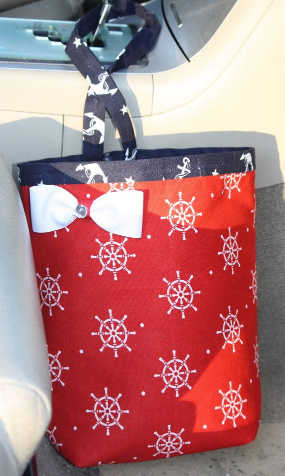 Car Trash Bag Red   Navy Anchors Sailor Teen Girl by CarCandies   18 00. 43 best Etsy Unique Gifts images on Pinterest   Unique gifts