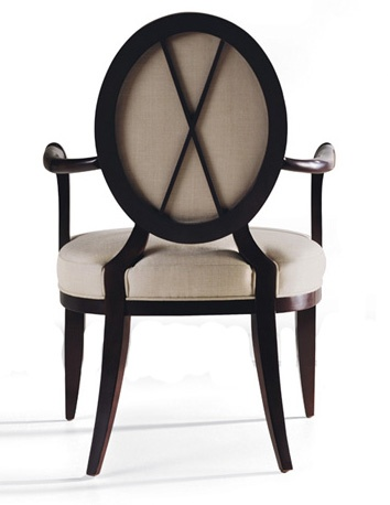 Baker Furniture : Oval X Back Dining Arm Chair   3441 : Barbara Barry :  Browse Products