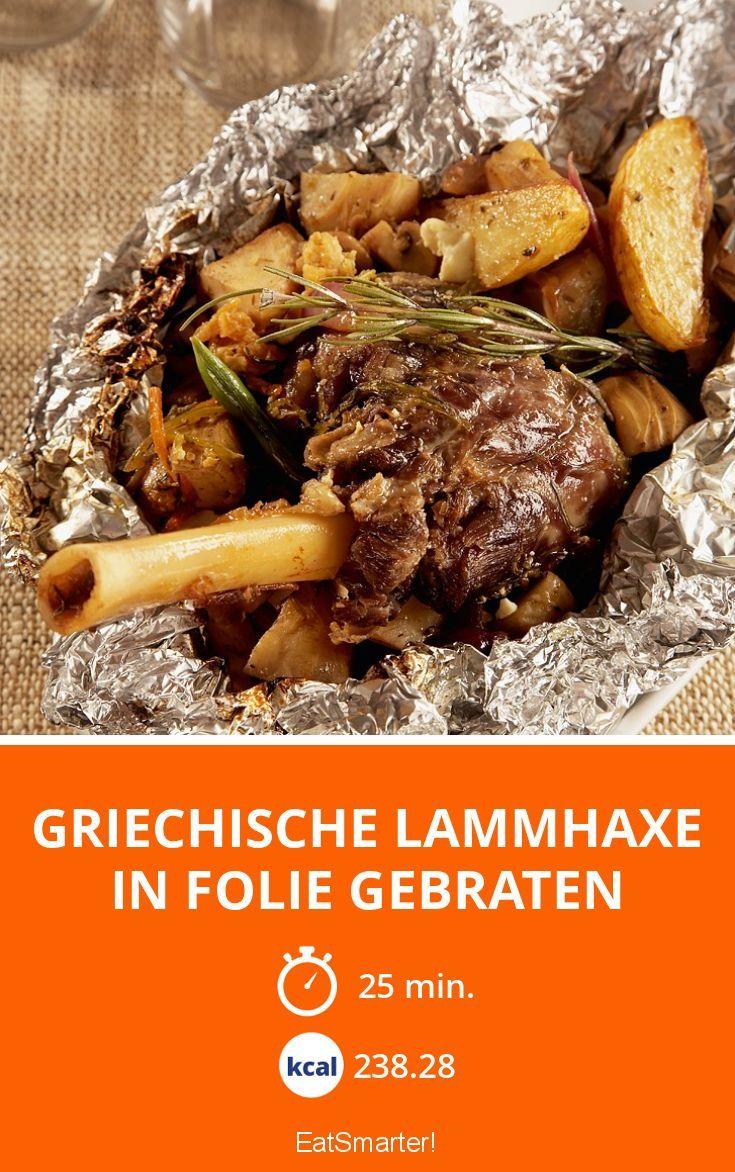 Griechische Lammhaxe in Folie gebraten - smarter - Kalorien: 238.28 Kcal - Zeit: 25 Min. | eatsmarter.de