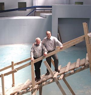 Dieter Einfeld and Esen Ercan Alp inside SESAME in Amman Jordan