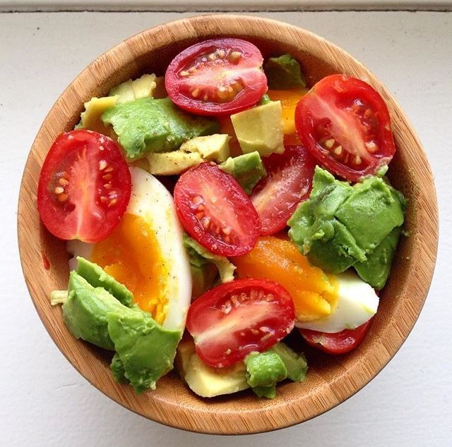 Enjoy this salad for breakfast or as a side for dinner! It's easy to make, with ingredients that you probably have in your kitchen right now!