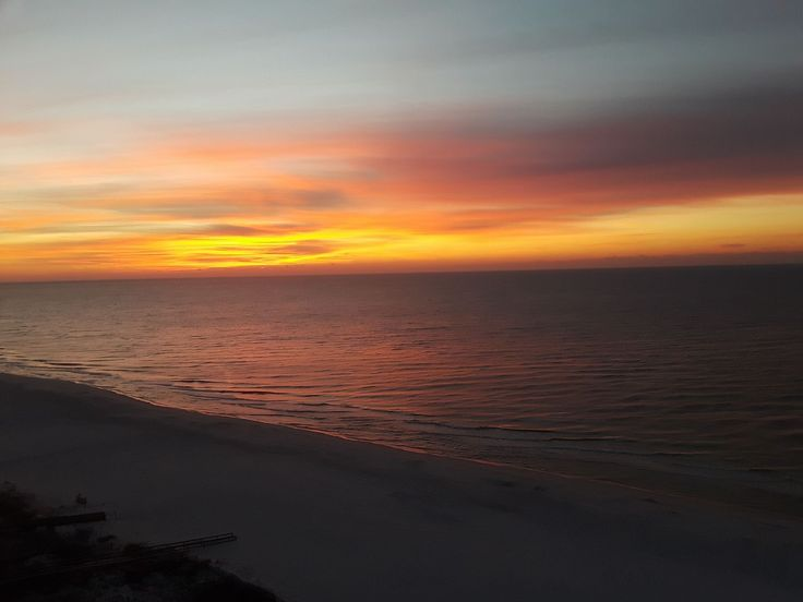 Orange Beach this morning… Photo from Danny Evans