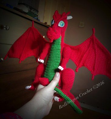 Meet Tzuron , an Amigurumi Dragon. He would love to stay with you in your home…