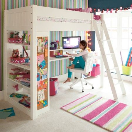 Warwick High Sleeper With Bookcase | Smart High Sleeper Beds for Children | ASPACE £995