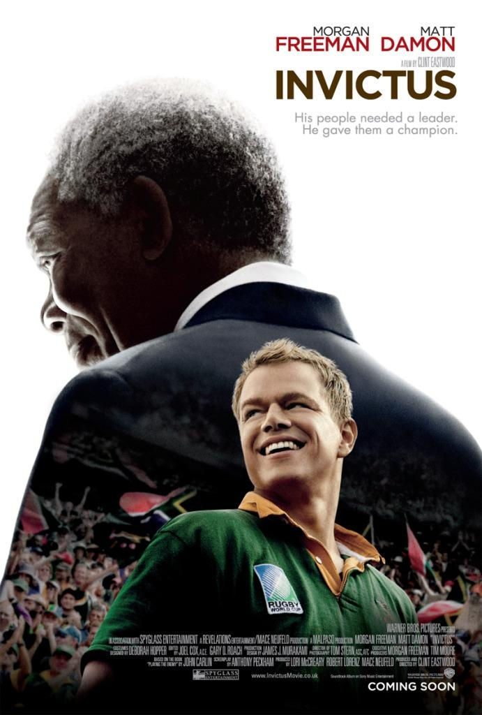 Nelson Mandela, in his first term as the South African President, enlists the national rugby team on a mission to win the 1995 Rugby World Cup.