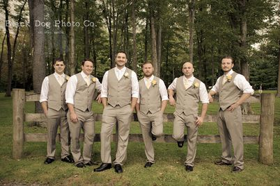 A vest with no jacket is such a cool look for the groom and his groomsmen.   Akron Wedding Photographer