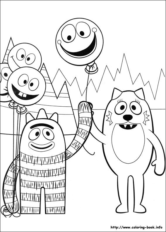 yo gabba gabba coloring sheets enjoy coloring