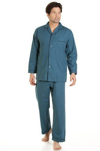 Haigman Mens Nightwear Long Sleeve Pyjama Suit With Trousers, Green XXXL Fibre Content: 65% Polyester & 35% CottonTop Chest PocketElasticated WaistSoft & ComfortableMachine Washable  Blouses, coats, hoodies, nightwear, Shirts, t-shirts for womens, Tops, vest top womens