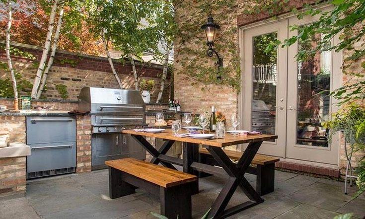 1000 id es propos de cuisine d t ext rieure sur pinterest cuisine d 3 - Idee amenagement cuisine exterieure ...
