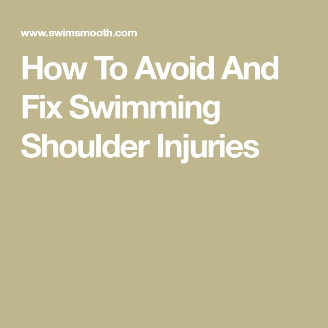How To Avoid And Fix Swimming Shoulder Injuries