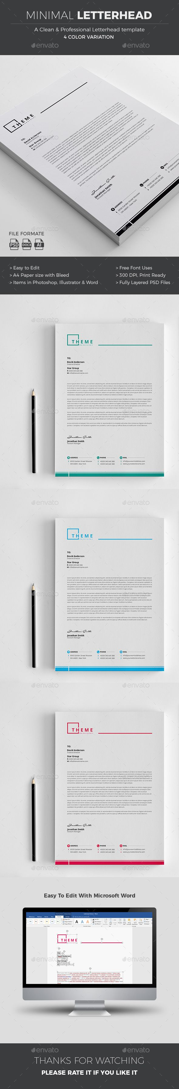 Professional Letterhead Templates Interesting 232 Best Letterhead Design Images On Pinterest  Print Templates .