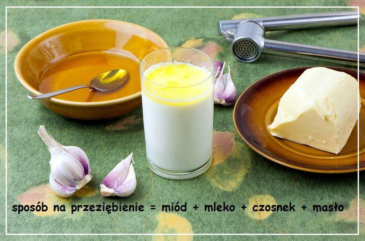 Szklanka ciepłego mleka z miodem i czosnkiem (czasami też z masłem), znacie to?  Niezbyt smaczne, ale za to skuteczne w walce z przeziębieniem.