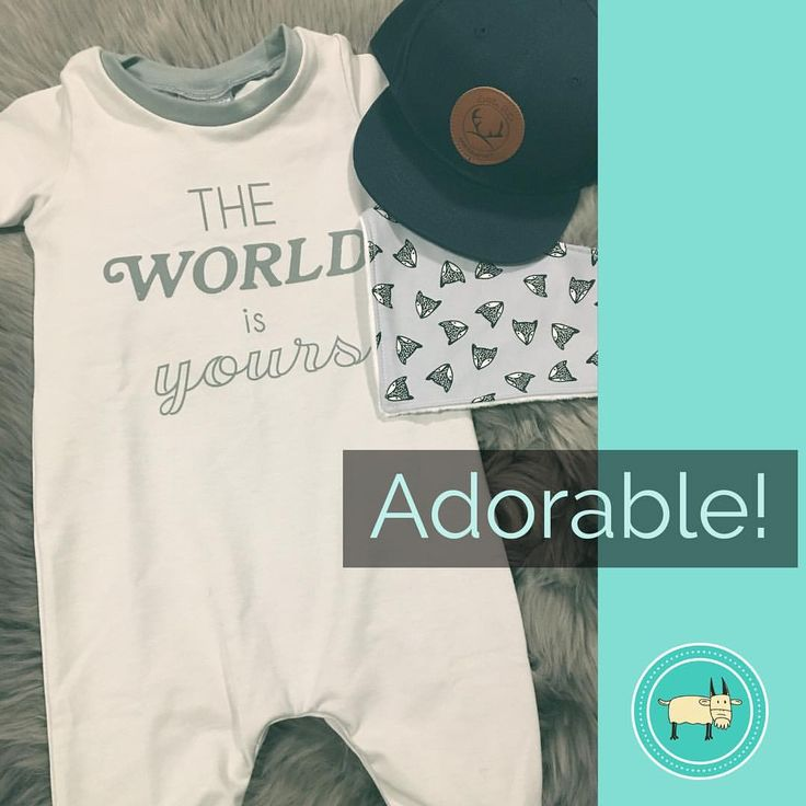 """""""Cute! Cute! Cute!. . The World is Yours Romper by @olliejonesclothing paired with @little.buck.shop…"""""""