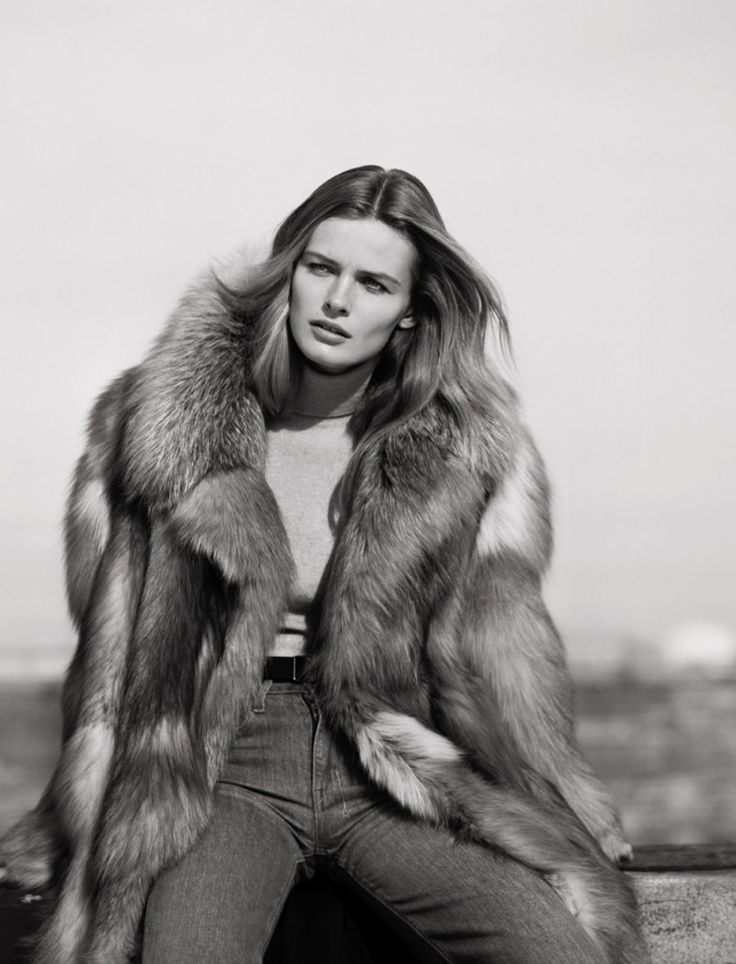 Edita Vilkeviciute Poses for Mark Peckmezian in Black & White for Holiday Magazine