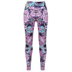 Tikiboo Candy Skulls Leggings £35.99 #Activewear #Gymwear #FitnessLeggings #Leggings #Tikiboo #Running #Yoga