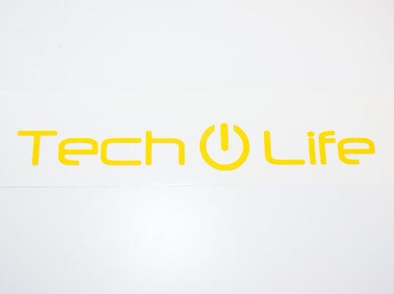 Tech Life - vinyl car auto vehicle decal sticker - CUSTOM COLOR - Made to order!