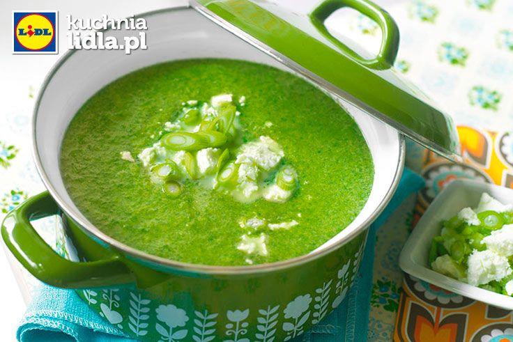 Zupa szpinakowa z fetą.  Kuchnia Lidla - Lidl Polska. #lidl #ryneczeklidla