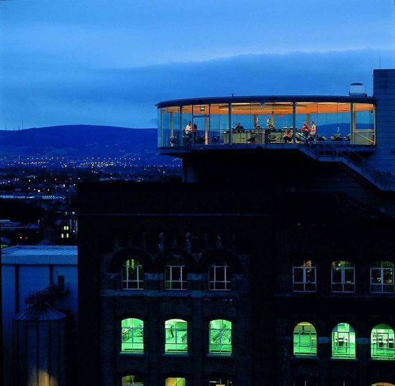 Guiness Storehouse Gravity Bar with a 360 view of Dublin.