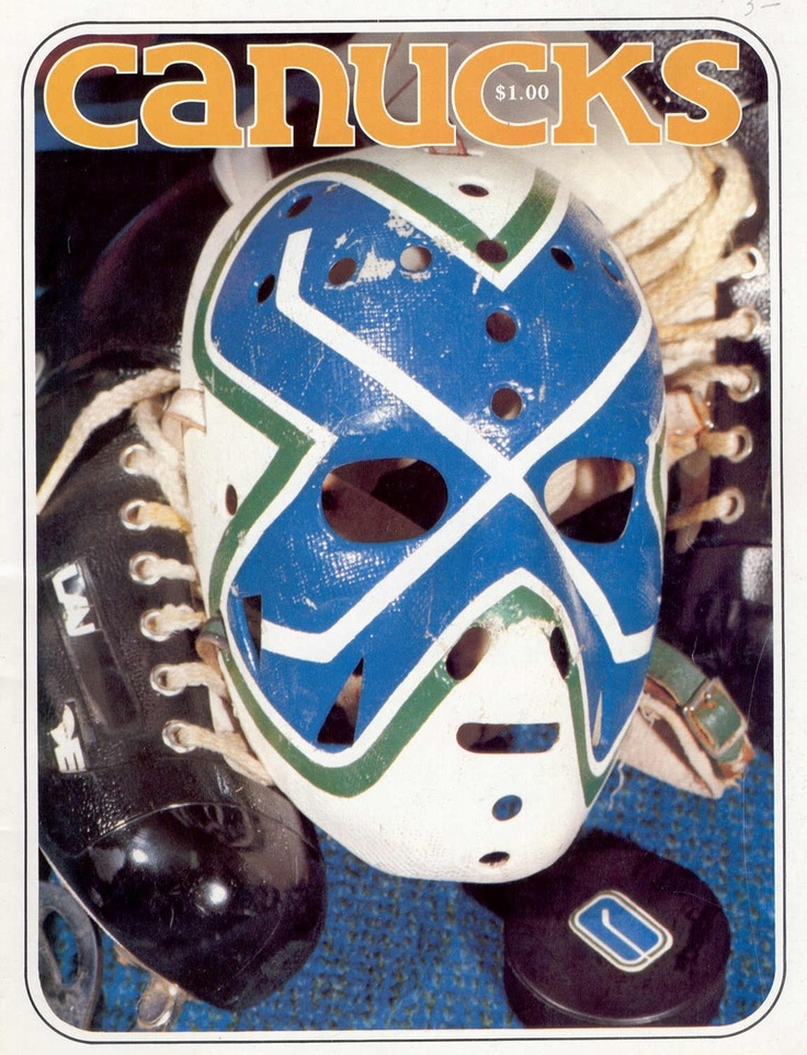 Curt Ridley's classic Vancouver Canucks mask.