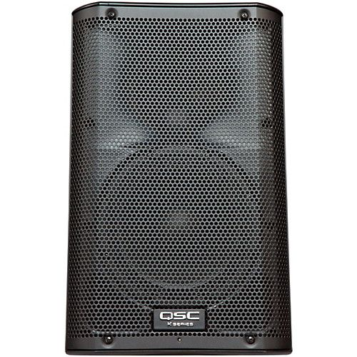 $550 QSC K8 8, sounds like really quality small speaker. TOP CONTENDER. Get Subwoofer though, one reviewer noted the bass rim could separate.