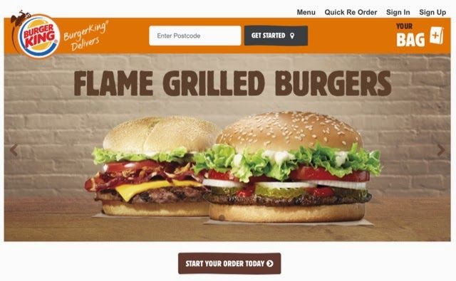 Burger King is currently trialling a new delivery service in the UK, via its new website Burger King Delivers