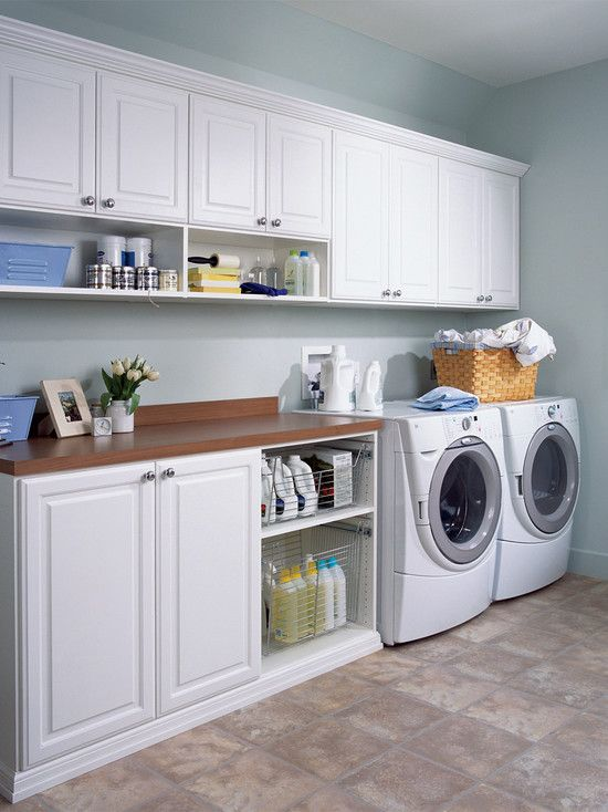 Laundry room design laundry rooms and laundry on pinterest for Utility room ideas