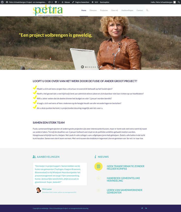 Petra is in 2006 voor zichzelf begonnen, na eerst jarenlang in vaste dienst te hebben gewerkt als (directie)secretaresse en PR-functionaris gewerkt. Petra heeft goed lopend bureau gespecialiseerd in projectondersteuning. Op haar website kun je meer lezen over haar speciliteiten en drijfveren.