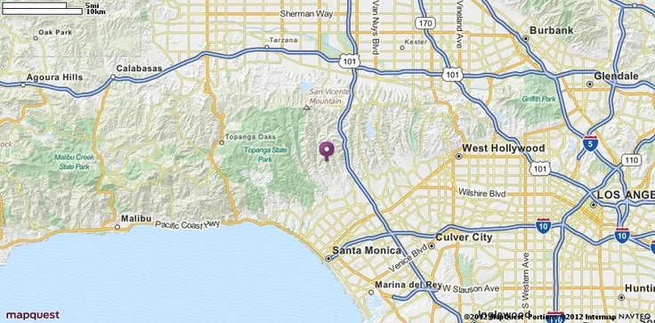 Los Angeles, CA Map MapQuest Styl´n Houses Pinterest