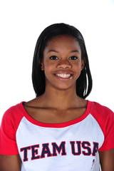 """Photo of gymnast Gabrielle (Gabby) Douglas, member of the 2012 US Olympic gymnastics team.  Has her head on straight at age 17 - says she """"meditates on Scripture"""" and that """"the Bible helps me"""". Such a great inspiration in every way!!"""