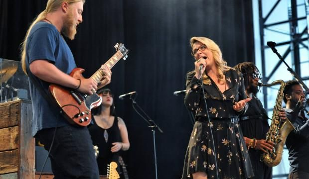 Tedeschi Trucks Band delivered an emotionally charged performance at the brand new Daily's Place Amphitheatre on the day of Gregg Allman's passing.