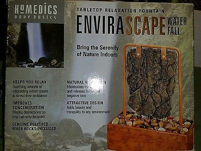 HoMedics Envirascape Waterfall Indoor Tabletop Relaxation Fountain Copper
