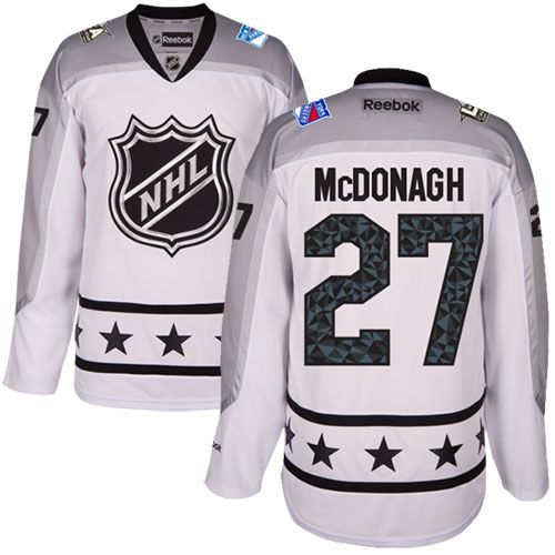 Men's New York Rangers #27 Ryan McDonagh White 2017 All-Star Metropolitan Division Stitched NHL Jersey