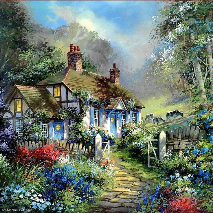 11 Best Jim Mitchell Artwork Images On Pinterest Cottage