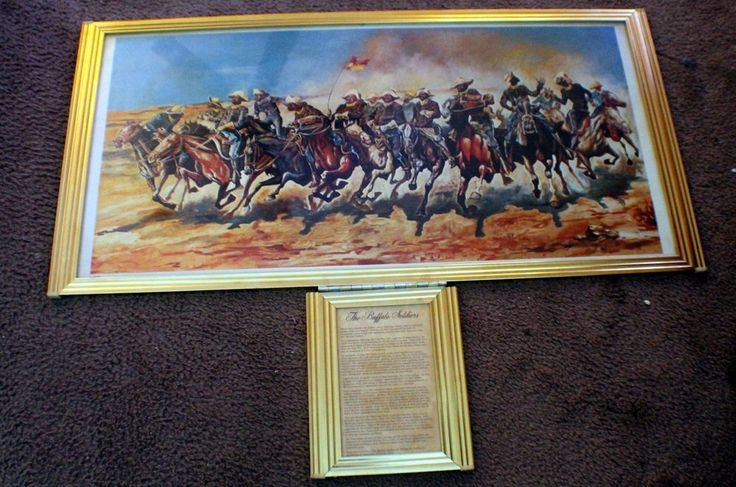 Buffalo Soldiers Ernie Barnes Print Lithograph Framed 1979