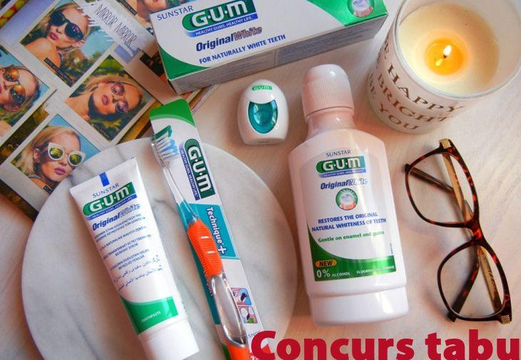 Inscrie-te in concurs http://tabu.realitatea.net/castiga-unul-din-cele-5-seturi-pentru-igiena-orala-sunstar-gum-original-white/ pana pe 8 noiembrie si ai sansa de a castiga unul din cele 5 seturi pentru igiena orala din gama Sunstar Gum Original White!