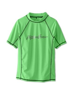 56% OFF Maui & Sons Boy's Classic Script Rashguard (Neon Green)