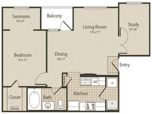 771 Sq Ft Apt Floorplan Floor Plans Enclave Golden Triangle