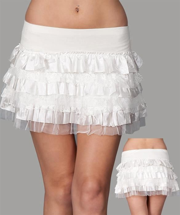 WHITE LACE SKIRT SIZE: MMAKE AN OFFER!