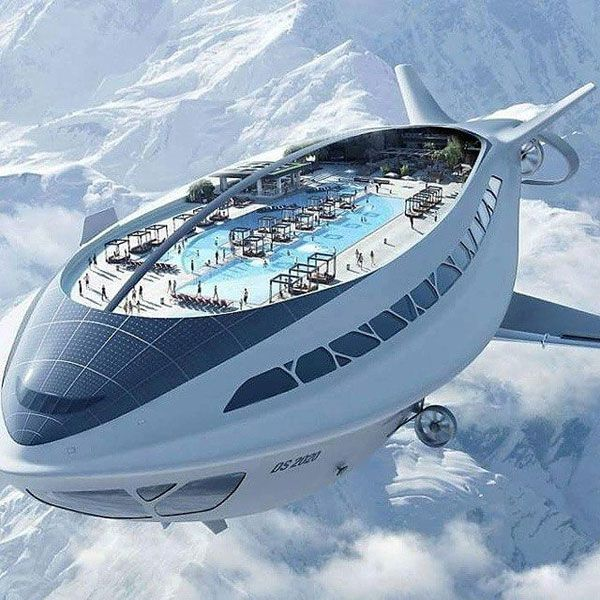 40+ Mind-Blowingly Creative Pools | Airship, Futuristic ...