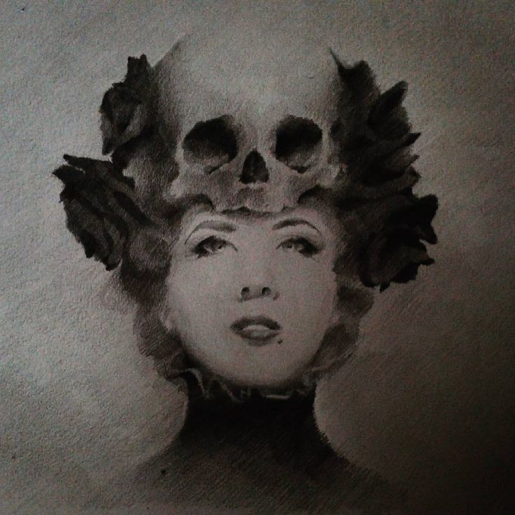 chirimasmind#portrait#girl#skull#flowers#rose#blackandwhite#blackandgrey#worldofpencils#supportallartists #sketch#sketchbook#drawing#gallery#fineart#art#artist #pencil